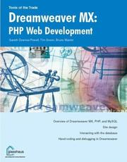 Cover of: Dreamweaver MX : PHP web development