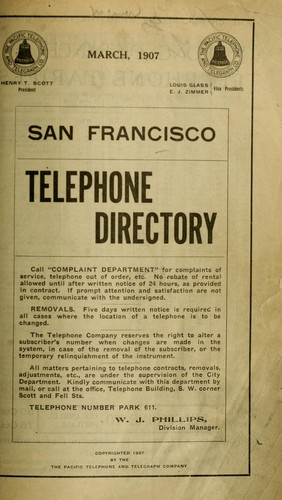 San Francisco telephone directory. by