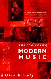 Cover of: Introducing modern music