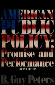 Cover of: American public policy | B. Guy Peters