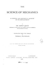 Cover of: The science of mechanics | Ernst Mach