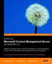 Cover of: Enhancing Microsoft Content Management Server with ASP.NET 2.0 | Lim , Mei Ying