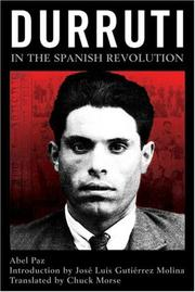 Cover of: Durruti in the Spanish Revolution