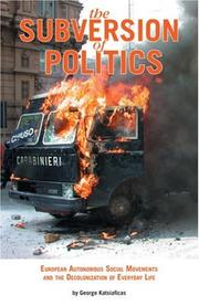 Cover of: The Subversion of Politics
