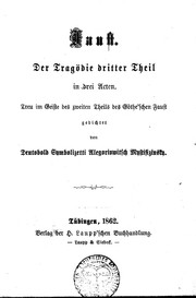 Cover of: Faust | gedichtet von Deutobold Symbolizetti Allegoriowitsch Mystifizinsky.