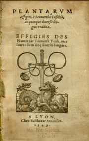 Cover of: Plantarum effigies | Leonhart Fuchs