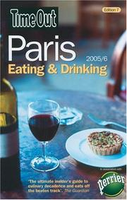 Cover of: Time Out Paris Eating and Drinking | Rosa Jackson