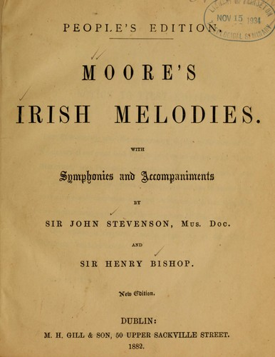 Moore's Irish melodies by Thomas Moore