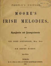 Cover of: Moore's Irish melodies | Thomas Moore