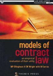 Cover of: Models of Contract Law | M. P. Ellinghaus