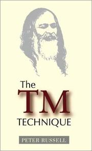 Cover of: The TM Technique | Peter Russell