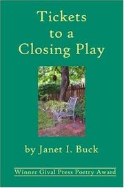 Cover of: Tickets to a Closing Play
