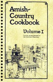 Cover of: Amish-Country Cookbook Vol. 1 | Bob Miller