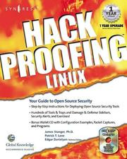 Hack Proofing Linux  by James Stanger, Patrick T. Lane