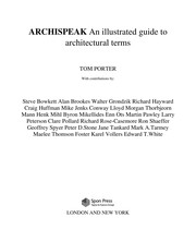 Cover of: ARCHISPEAK: AN ILLUSTRATED GUIDE TO ARCHITECTURAL TERMS. | TOM PORTER
