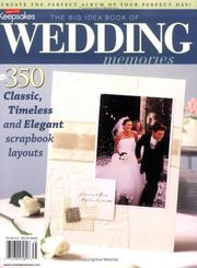 Cover of: The Big Idea Book of Wedding Memories | Tracy White