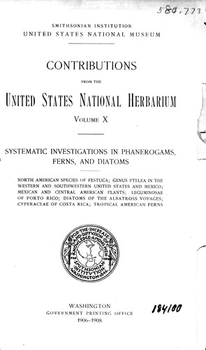 Contributions from the United States National Herbarium by United States National Herbarium