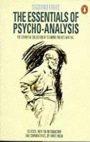 Cover of: Essentials of Psycho-Analysis: The Definitive Collection of Sigmund Freud's Writing (Penguin Psychology)