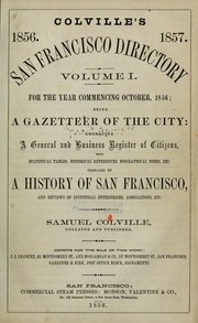 Cover of: Colville's San Francisco directory for the year commencing ... by Samuel Colville