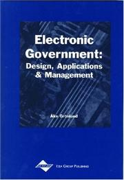 Cover of: Electronic government | AМЉke GroМ€nlund