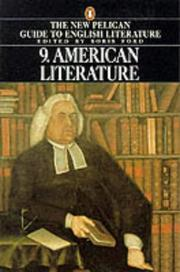 Cover of: A Guide to English Literature: Volume 9 - American Literature
