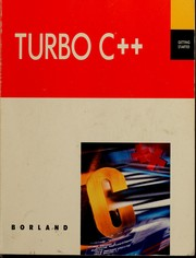 Cover of: Turbo C++ | Borland International