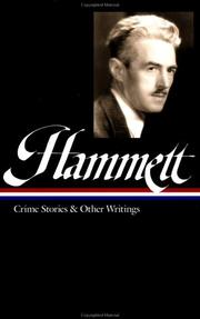 Cover of: Crime stories and other writings | Dashiell Hammett