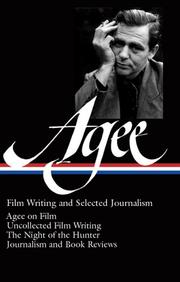 Cover of: Film writing and selected journalism