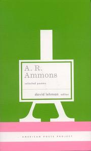 Cover of: A. R. Ammons | A. R. Ammons