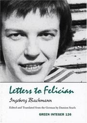 Cover of: Letters to Felician (Green Integer, 99)