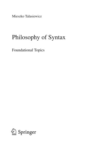 Philosophy of syntax by Mieszko Talasiewicz