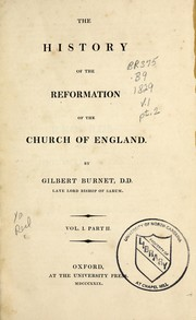 Cover of: The history of the Reformation of the Church of England | Burnet, Gilbert