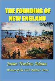 Cover of: The founding of New England