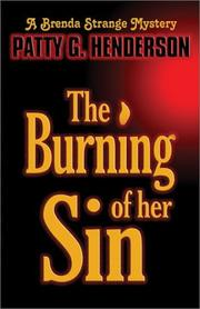 Cover of: The Burning of Her Sin (Brenda Strange Mystery, 1)