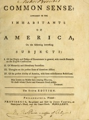 Cover of: [Common sense | Thomas Paine