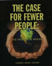 Cover of: The Case For Fewer People