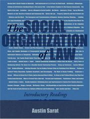 Cover of: Social organization of law |