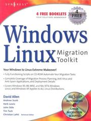 Cover of: Windows to Linux Migration Toolkit