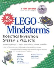 Cover of: 10 Cool LEGO Mindstorms Robotics Invention System 2 Projects | Jeff Elliott