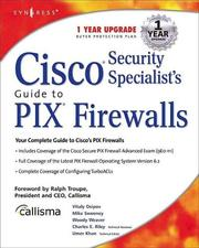 Cover of: Cisco Security Specialist