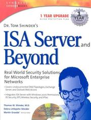 Cover of: Dr. Tom Shinder's ISA server and beyond |