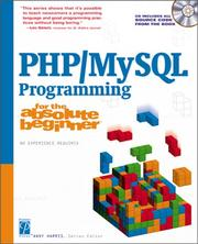 Cover of: PHP/MySQL Programming for the Absolute Beginner (For the Absolute Beginner) | Andy Harris