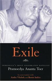 Cover of: Exile: Pramoedya Ananta Toer in conversation with Andre Vltchek and Rossie Indira