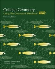 Cover of: College geometry using the Geometer