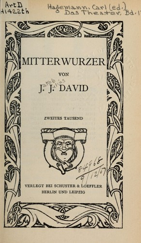 Mitterwurzer by Jakob Julius David