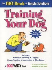 Cover of: Training your dog: the big book of simple solutions