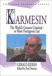 Cover of: Karmesin | Gerald Kersh