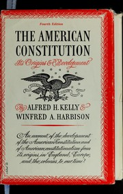 Cover of: The American Constitution | Alfred Hinsey Kelly