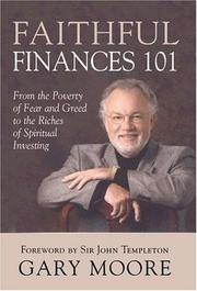 Cover of: Faithful Finances 101 | Gary D. Moore