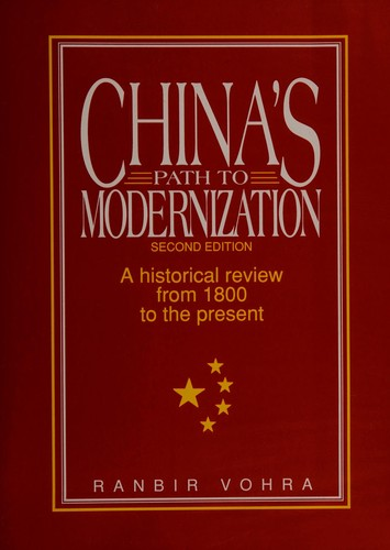 China's path to modernization by Ranbir Vohra